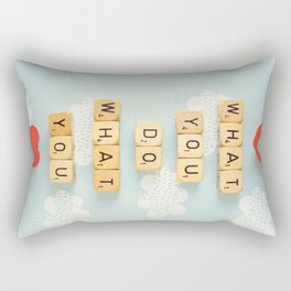 Love What You Do Rectangular Pillow