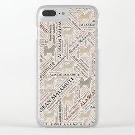 Alaskan Malamute dog Word Art Clear iPhone Case