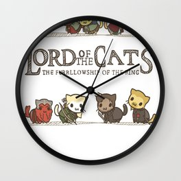 The Furrlowship of the Ring Wall Clock