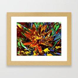 floral technique Framed Art Print