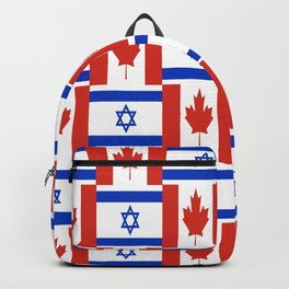 Mix of flag: canada and israel Backpack