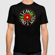 I can and I will Mens Fitted Tee Black MEDIUM