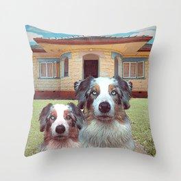 Two Aussies Throw Pillow