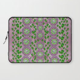 ivy and  holm-oak with fantasy meditative orchid flowers Laptop Sleeve