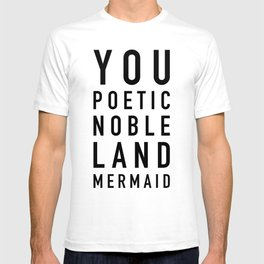Poetic Noble Land Mermaid - Parks and Rec T-shirt