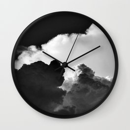'Colliding Clouds' Wall Clock
