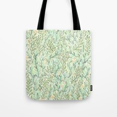 Green and Yellow Leaves Tote Bag
