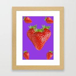 Strawberry Love Framed Art Print