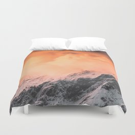 Sunset over Mount Aspiring Duvet Cover
