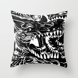 Wolf Core Throw Pillow