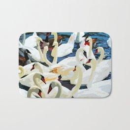 Swans on the Lake Bath Mat