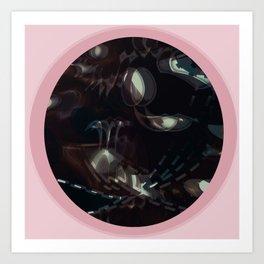 Donna rosa Art Print