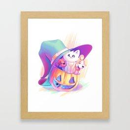 A Witch's Halloween Framed Art Print