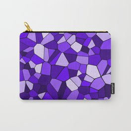 Violet Purple Blue Mosaic Pattern Carry-All Pouch