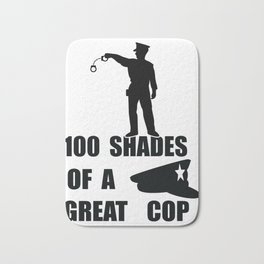 Kinds of a mad policeman cop police Bath Mat