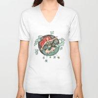 ying yang V-neck T-shirts featuring Ying Yang by Catru
