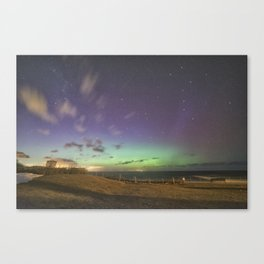 St. Patrick's Day Aurora in Rockport Canvas Print