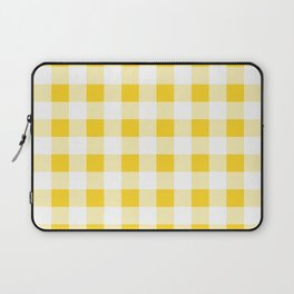 Yellow and White Buffalo Check Laptop Sleeve