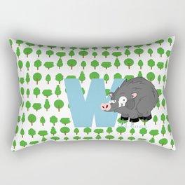 w for wild boar Rectangular Pillow