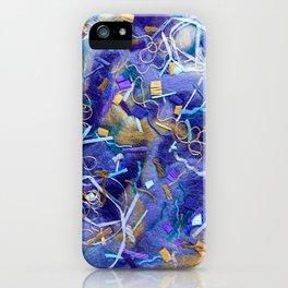 Purple Constellation Fibre Painting iPhone Case