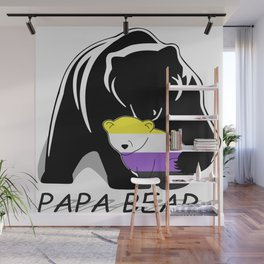 Papa Bear Nonbianary Wall Mural