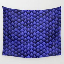 Blue scales Wall Tapestry