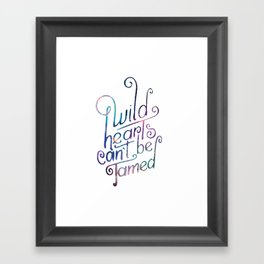 Wild Hearts Framed Art Print
