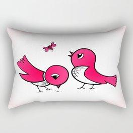 Cute little birds Rectangular Pillow