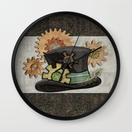 Steam Sass Steampunk Mixed Media Wall Clock