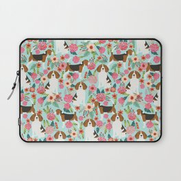 Beagle Floral dog design cute florals beagle phone case beagle pillows Laptop Sleeve