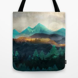Green Wild Mountainside Tote Bag