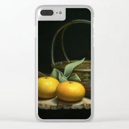 Mandarin oranges Clear iPhone Case