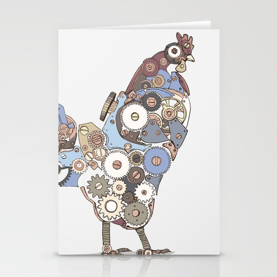 Chicken Alarm Stationery Cards