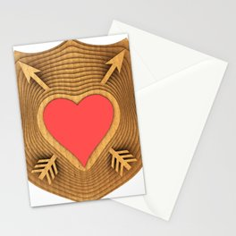 Illustration of a symbolic coat of arms of love. Stationery Cards