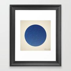 Circular Polaris & Star Trails Framed Art Print