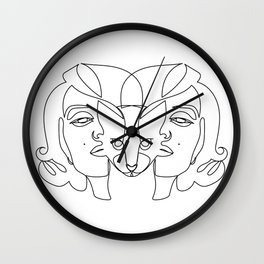 LENI CAT LADY Wall Clock