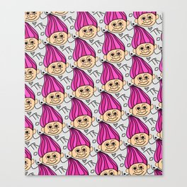 Troll s character pattern Canvas Print