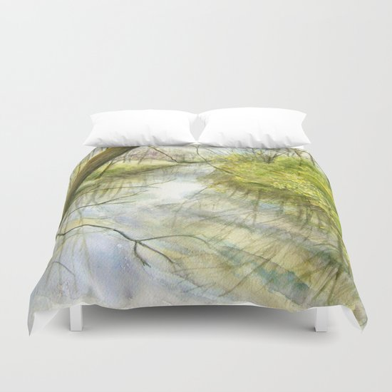 Root River at Racine Duvet Cover