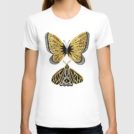 Golden Butterfly & Moth T-shirt