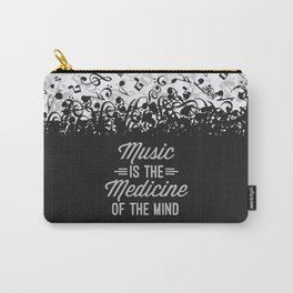 Music Medicine Mind Quote Carry-All Pouch