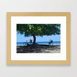 Beachside Bikes  Framed Art Print
