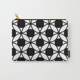 Geometric Circles In Black & White Carry-All Pouch