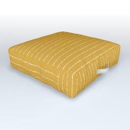 Lines / Yellow Outdoor Floor Cushion