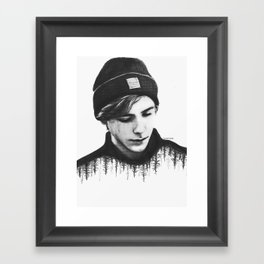SKAM lost and found (b&w) Framed Art Print