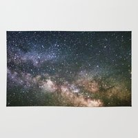 milky way Area & Throw Rugs featuring Milky Way by Laura Stanford