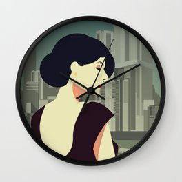 Girl Retro Style 12 Wall Clock