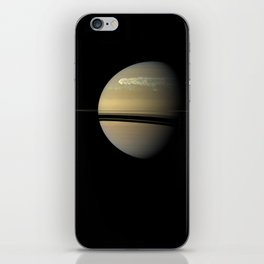 """Catching its Tail"" huge storm on Saturn iPhone Skin"