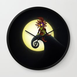 Zelda of mask-nightmare Wall Clock