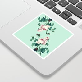 Roses Mint Green + Pink Sticker