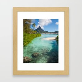 Bora Bora Mountain View Framed Art Print